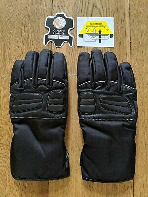 Juicy Trendz Mens Waterproof Motorcycle Gloves Black Large New
