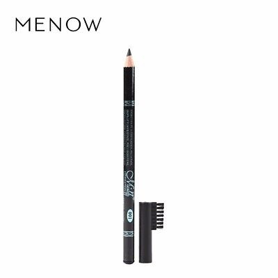 MENOW Black Eyebrow Pencil with Comb Waterproof Long Lasting Eye Makeup Cosmetic
