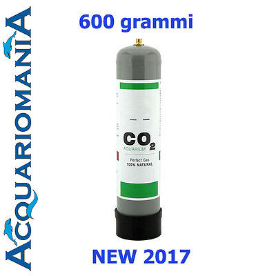Bombola CO2 per acquario 600gr usa e getta passo 10x1 mm Standard