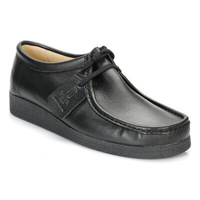 Tower Mens Womens Black Napa Leather Moccasin Back to School Shoes 0210-2