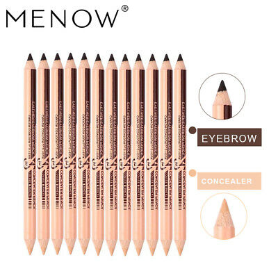 MENOW 12PCS Concealer & eyebrow Pencils 2 in 1 Makeup Set Two-head Professional