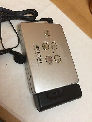 Sony Portable Cassette Player Walkman Vintage Working Condition