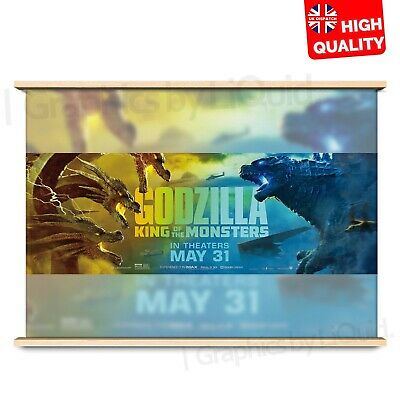 Godzilla King of The Monsters Art Poster Movie Zilla Vs Ghidora | A4 A3 A2 A1 |