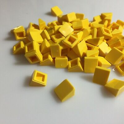 New LEGO Mini Slopes Lot of 8 Yellow 1x1x2//3 Roof Brick Minifig Cheese Food Part