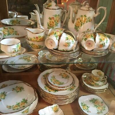 Royal Albert Yellow ' Tea Rose '  Tea Set And Tableware - English Bone China