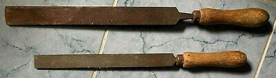 2 x Vintage Wooden Handle Files