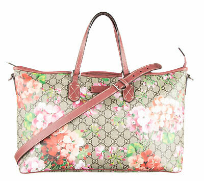 0f870fcd94b72c GUCCI MULTI-COLOR GG Supreme Coated Canvas Blooms Tote - $840.00 ...