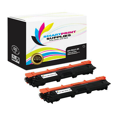2Pk SPS TN221 Black Compatible Brother MFC-9130cw 9340cdw HL-3140cw Cartridge