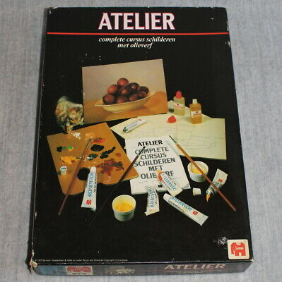 JUMBO Atelier Vintage Boxed Complete Oil Painting Paint Canvas Kit Set 1970's