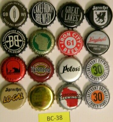 BEER Bottle Caps 16 Different Leinenkugel Potosi Titletown Great Lakes BC26-3