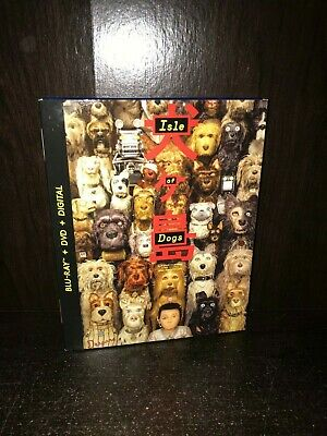 Isle of Dogs WES ANDERSON Blu-ray + DVD + Digital with Slip Cover LN