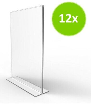 5x7 Quality Plastic Resturant Sign Holder Menu Display Ad Frame Stand Pack of 12