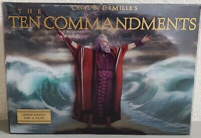 The Ten Commandments Limited Edition movie Blu-ray Disc DVD 4 Disc