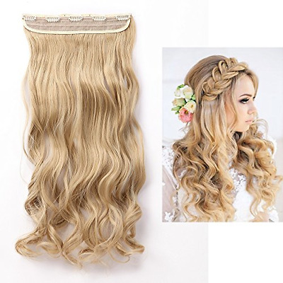 1Pcs 5 Clips 24 Inch Curly Half Full Head Clip in on Hair Extensions Hairpiece