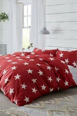 Red Star Converse Style Brushed Cotton Quilt Duvet Cover & Pillow Case Set Brand