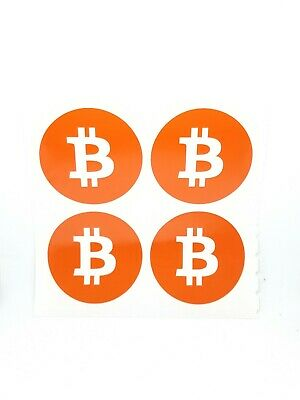 """4x 2.5"""" Bitcoin BTC Coin Vinyl Decal Stickers Blockchain cryptocurrency buy2get1"""