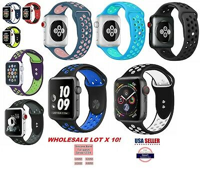 LOT 10 Silicone Band Strap For Apple Watch iWatch Sports Series 38/42/40/44mm SM