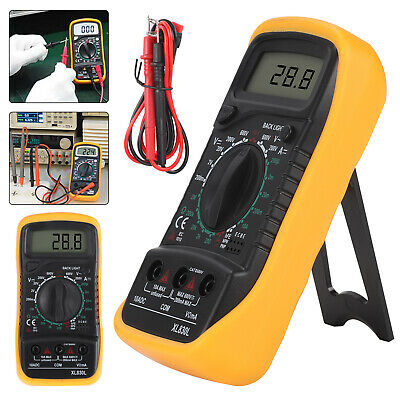 LCD Digital Multimeter Voltmeter Ammeter AC DC Current Circuit Buzzer Tester UK