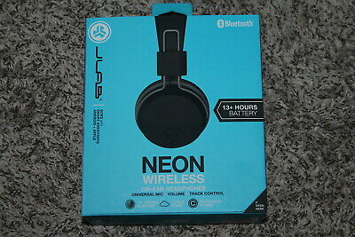 f34110e198e Jlab Audio Neon Bluetooth Wireless On‑Ear Headphones Black And Gray Brand  New