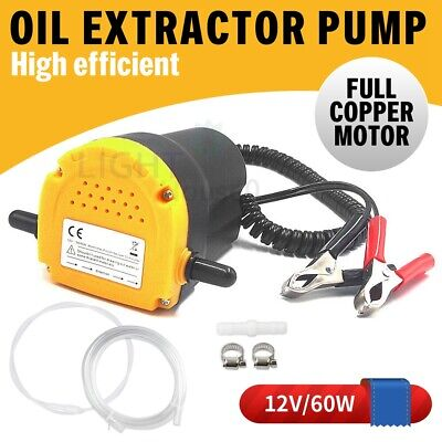 12V Oil Diesel Extractor Suction Pump Transfer Fluid Scavenge Change Car Boat AU