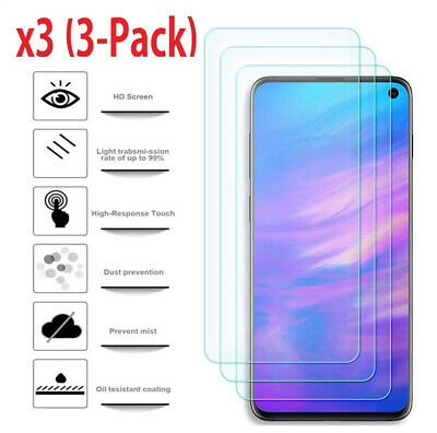 For Samsung Galaxy S10e Film Premium Real Tempered Glass Screen Protector 3 Pack