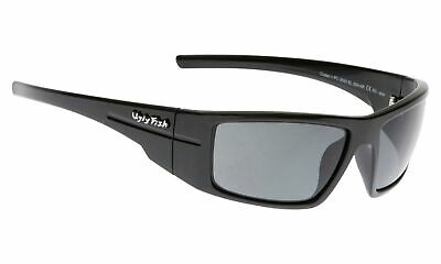 NEW Ugly Fish Polarised Sunglasses Crater PC3095 Black/Smoke