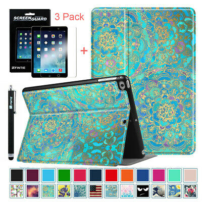For iPad 9.7 Inch 6th Gen 2018/ 5th Gen 2017 Case Cover+3 Pack Screen Protectors