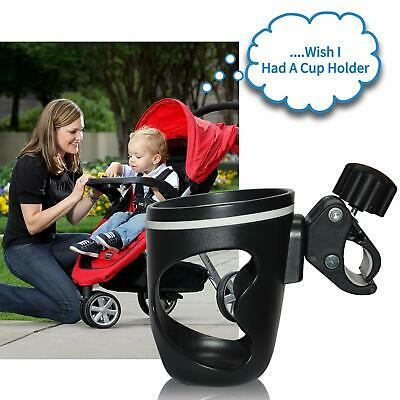 AOBETAK Pram cup holder, Water Bottle holder for pushchair with two clips hook,