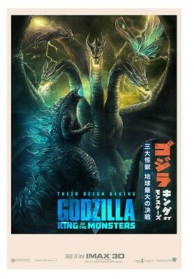 Godzilla King of the Monsters 2019 movie VINYL POSTER banner 27x40 King Ghidorah