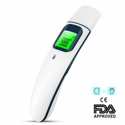 Ear and Forehead Thermometer, Dual Mode Digital Medical Infrared Thermometer wit