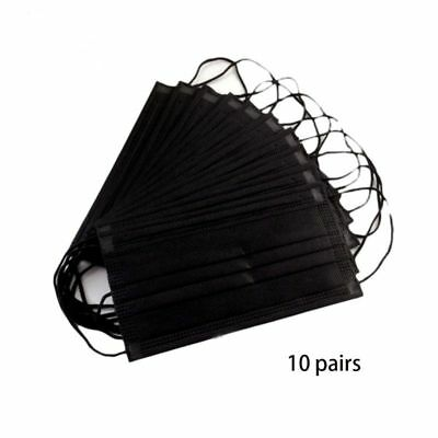 10Pcs Disposable 4 Layers Non-Woven Mouth Mask Activated Carbon Filter Dustproof