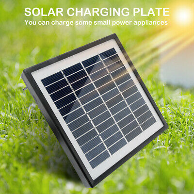 Portable 12V Solar Panel Battery DC Charging Power 2W For Camping Garden Securit