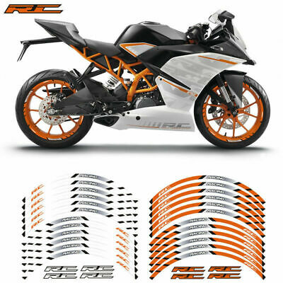 Motorcycle Wheel decals rim stripes tape stickers For KTM DUKE