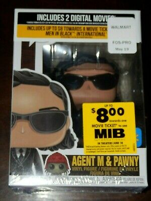 Funko Pop! MIB Agent M & Pawny Walmart Exclusive In Hand