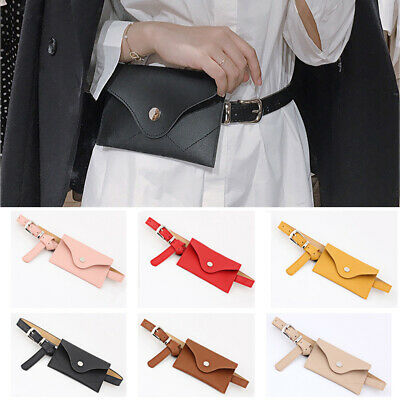 Women's Adjustable Belt With Waist Bag Ladies Skinny Jeans Dress Waistband