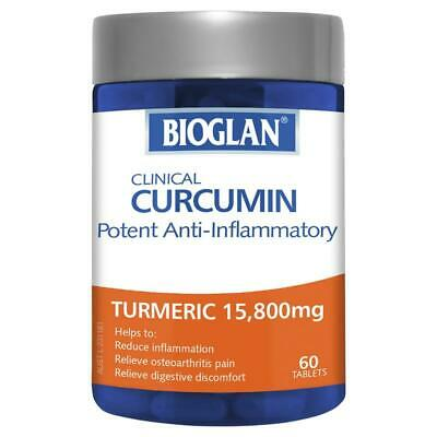Bioglan Clinical Curcumin 60 Tablets  Joint Mobility Anti-inflammatory Support