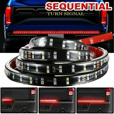 "60"" Dual Row Sequential Turn Signal LED Bar Tailgate Back up Brake Light Strip"