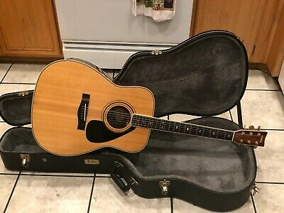 Yamaha FG375SII Acoustic Guitar w/ Hard Shell Case NICE