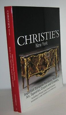 Christie's auction catalog important European furniture, Tapestries Art 2003