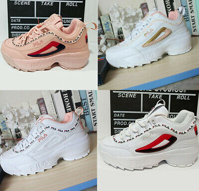 UK Sneakers Casual Athletic Running Shoes FILA Womens Disruptor II 2 Gym shoes