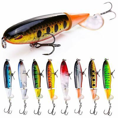 Whopper Plopper Topwater Floating Fishing Lures Rotating Tail for Bass Pike Chub
