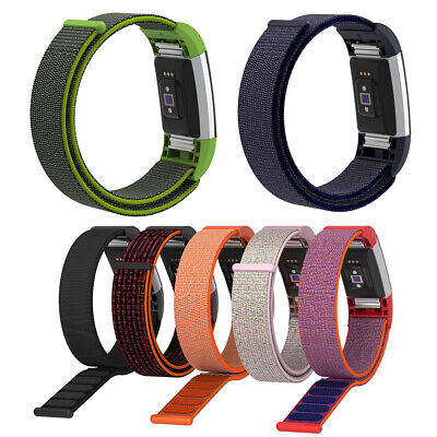 Replace Nylon Watchband Wrist Strap Band for Fitbit Charge 2 Sport Bracelet