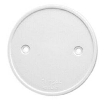 4x Clipsal RIGID PVC COVER FLANGES 85mm For Round Junction Boxes WHITE*AUS Brand