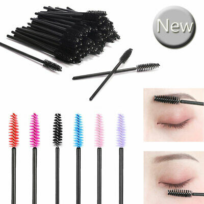 100PCS Disposable Mascara Wands Eyelash Mini Brushes Lash Extension Applicator