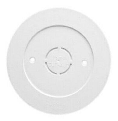 8x Clipsal RIGID PVC COVER FLANGES 100mm For Round Junction Boxes WHITE