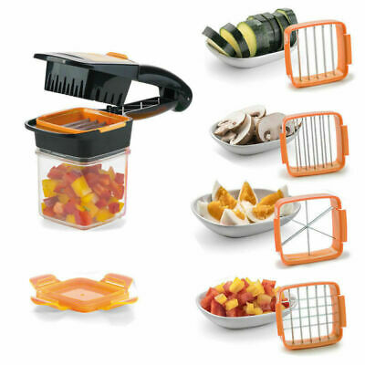 5 in 1 Inox Quick Dicer Fusion alimentaire fruits Légumes Cutter Slicer Chopper