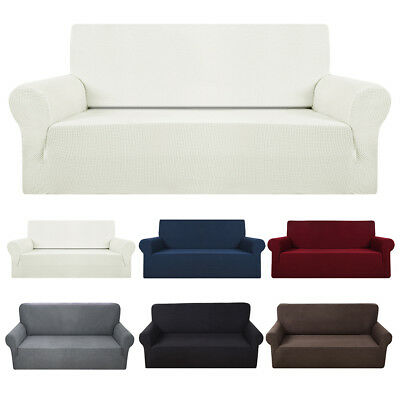 1/2/3/ 4Sofa Couch Slipcover Stretch Covers Elastic Fabric Settee Protector Fit
