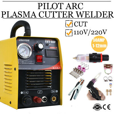 Plasma Cutter 50A Inverter Metal Cutting Machine 230V Pilot Arc Torch & Kits