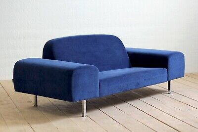 Vintage Swedish Mid-Century Post Modernist Cloud Sofa Couch Settee By Swedese