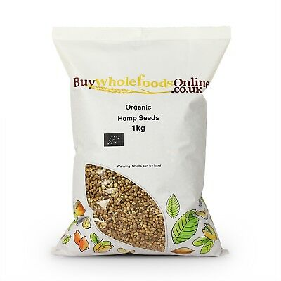 Organic Hemp Seeds 1kg | Buy Whole Foods Online | Free UK P&P